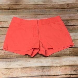 Sz0 J. Crew Factory Neon Orange Chino Shorts